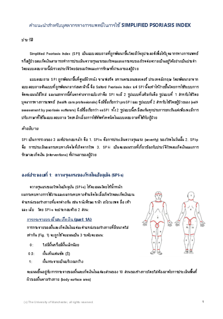 Introduction to SPI for healthcare professionals (Thai version)